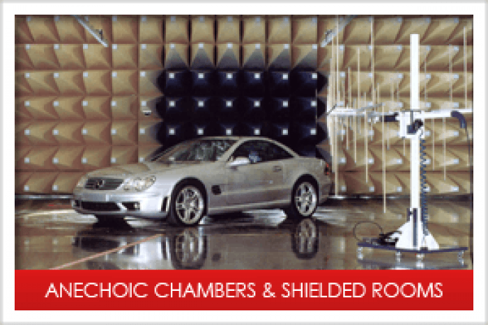 EMC / EMI Anechoic Chembers & RF-Shielded Rooms