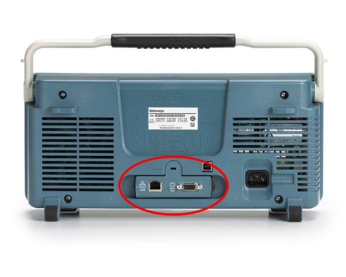 DPO2CONN Ethernet and VGA