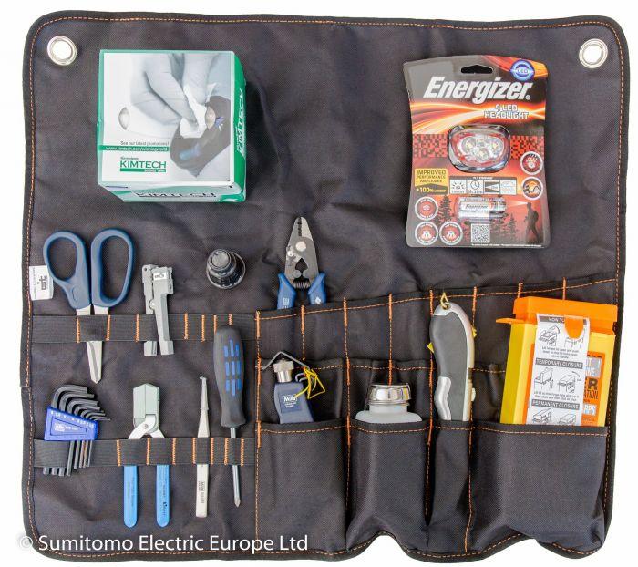 fiber preparation tool kit ( roll up )